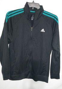 Adidas Mens Black Turquoise Jacket Sz L